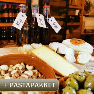 online wijnproeverij en pastapakket